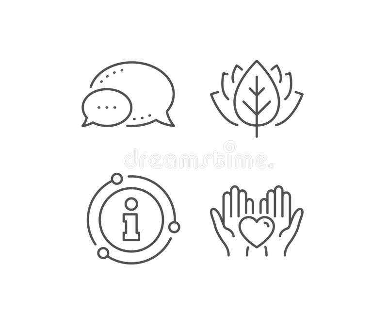Hold heart line icon. Friends love sign. Friendship hand. Vector. Hold heart line icon. Chat bubble, info sign elements. Friends love sign. Friendship hand vector illustration