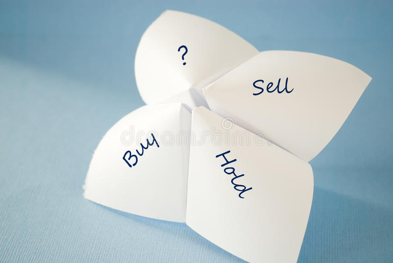 Hold sell buy. On a four-parts unit royalty free stock image