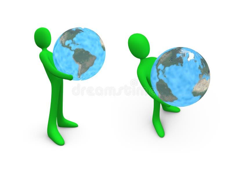 Hold The World vector illustration