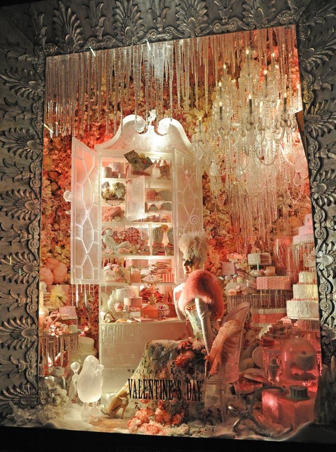 HOLDAY WINDOWS NYC стоковые изображения rf