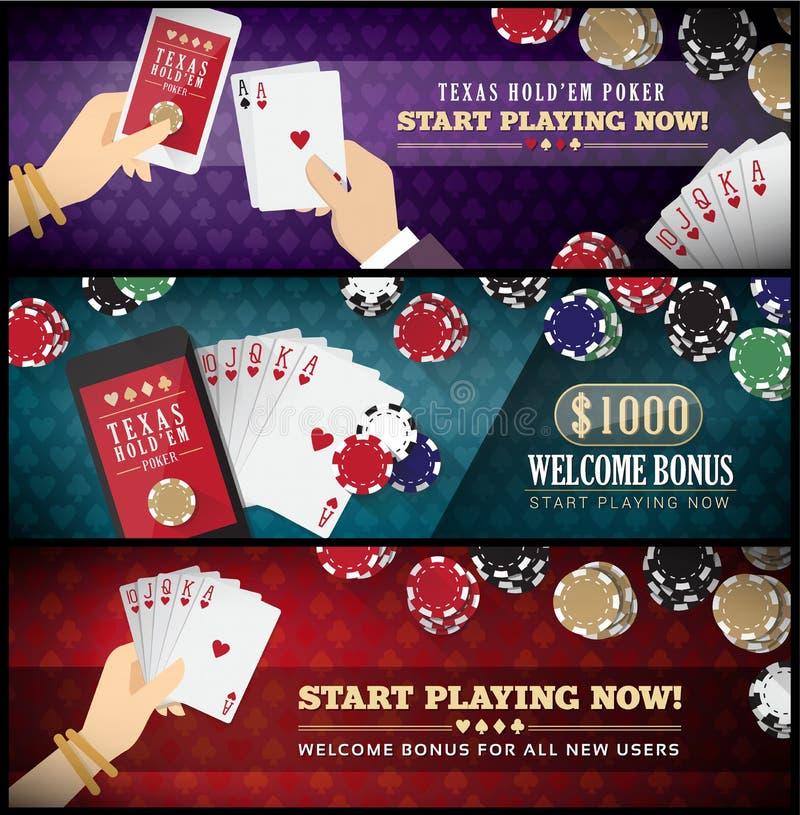 Free Holdem Poker Banner Set Stock Photo - 50435520
