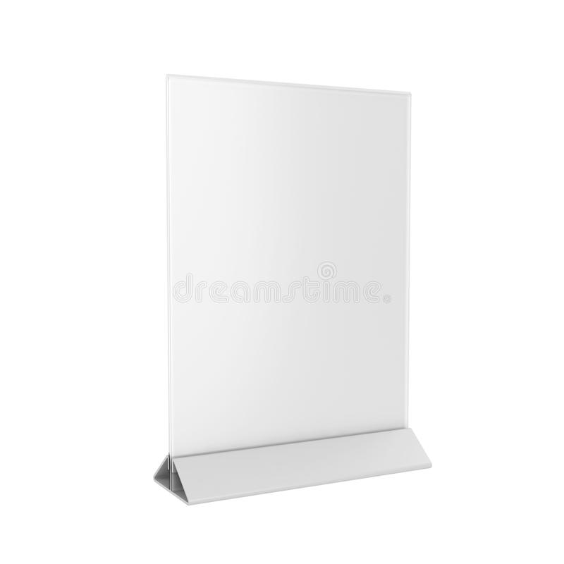 Holder Isolated on White Background, 3D rendering royalty free stock images