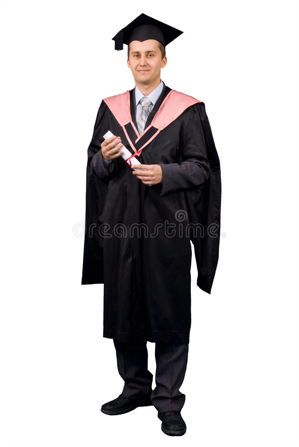 Download Holder Of A Master's Degree Stock Photo - Image: 4570556