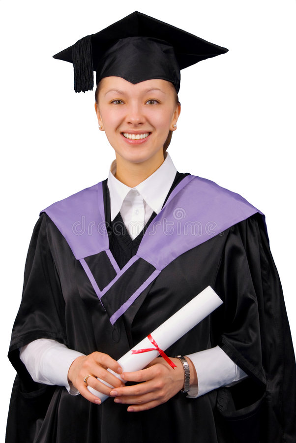 Holder Of A Master S Degree Stock Photo