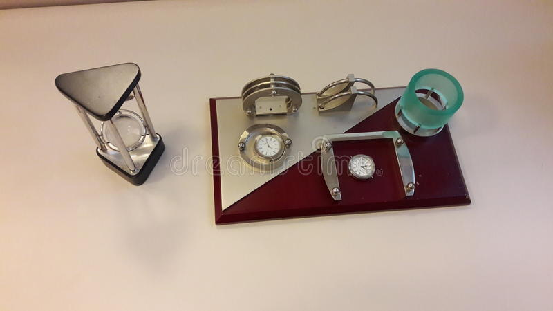 Holder with watches stock image