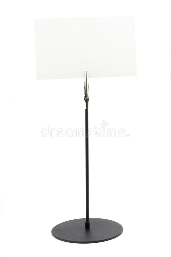 Download Holder with a white paper stock image. Image of notes - 1714303