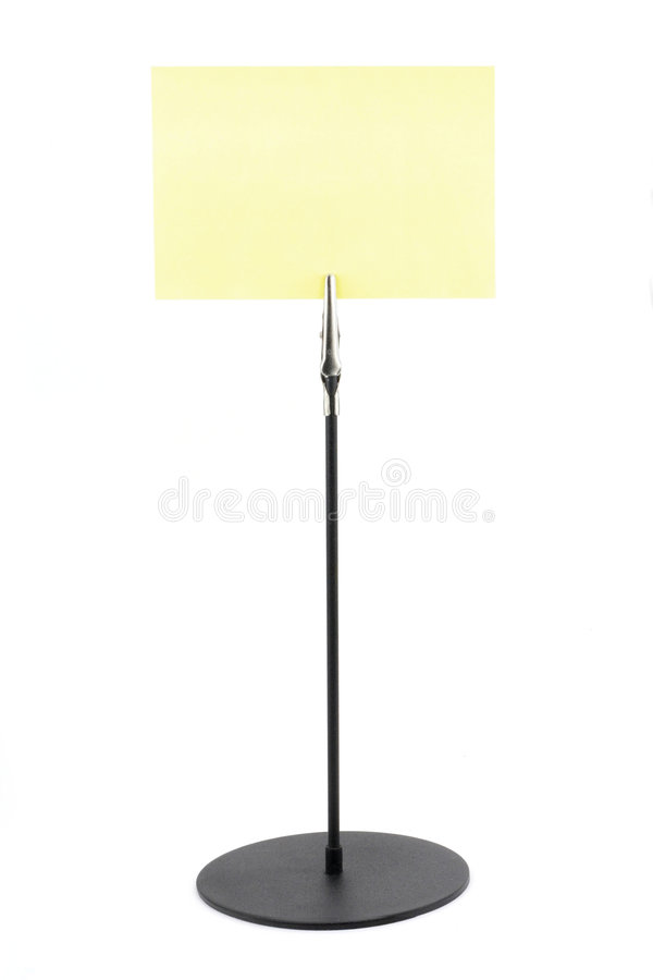 Download Holder with a yellow paper stock photo. Image of white - 1714304