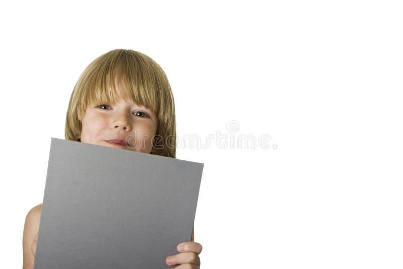 Holdig o cartão cinzento imagens de stock
