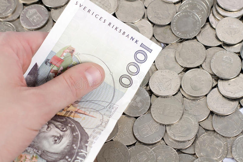 Download Holding 1000 Swedish Kronor Stock Photo - Image: 16722654