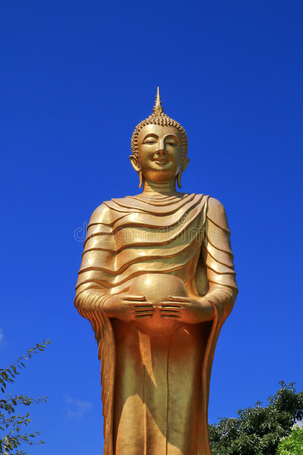 The holding an alms bowl Buddha image2 stock photo