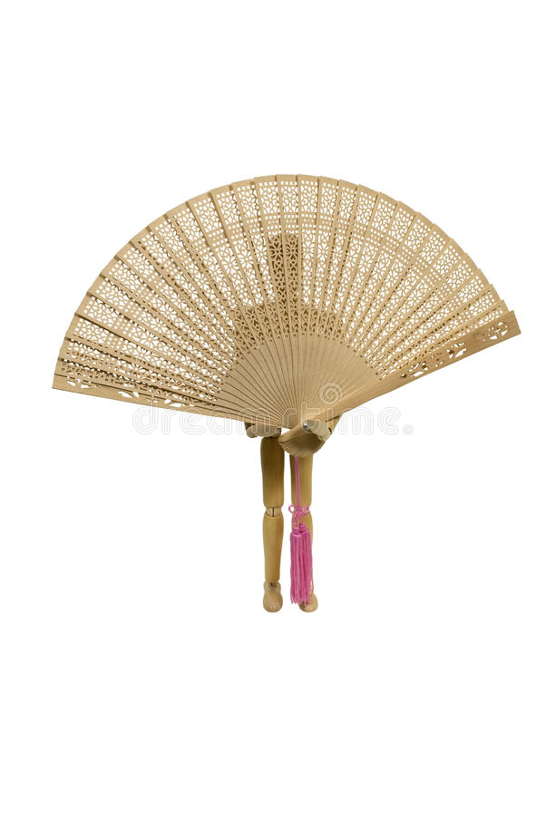 Holding an Asian Fan royalty free stock images