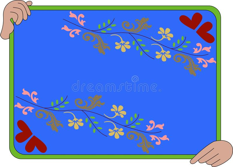 Download Holding banner stock vector. Illustration of greeting - 18536730