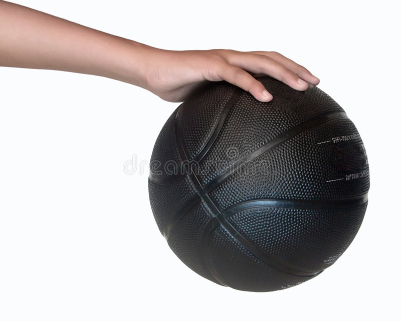Holding A Basketball stock image