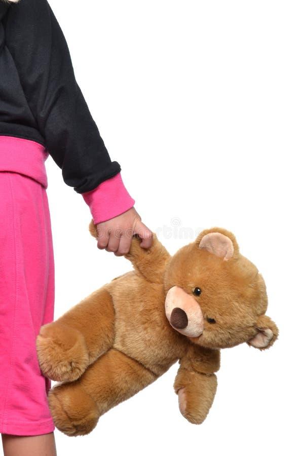 Holding teddy bear stock photos