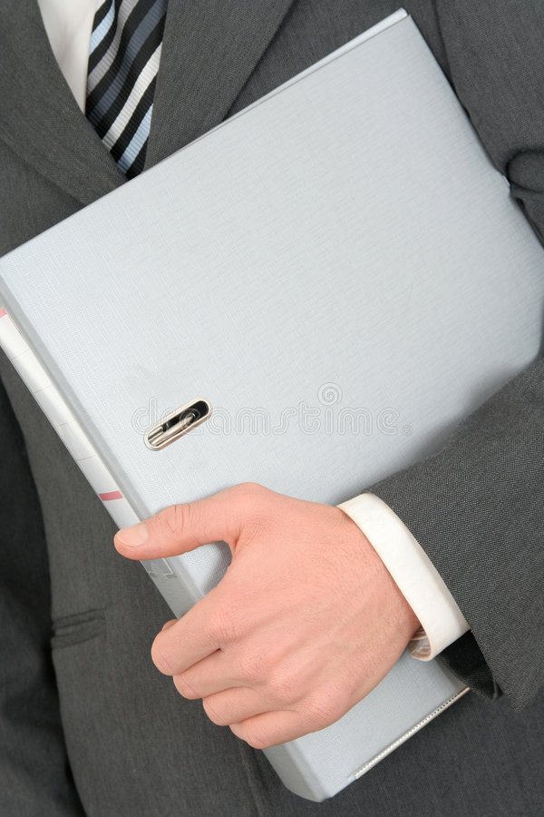 Holding a Binder stock images