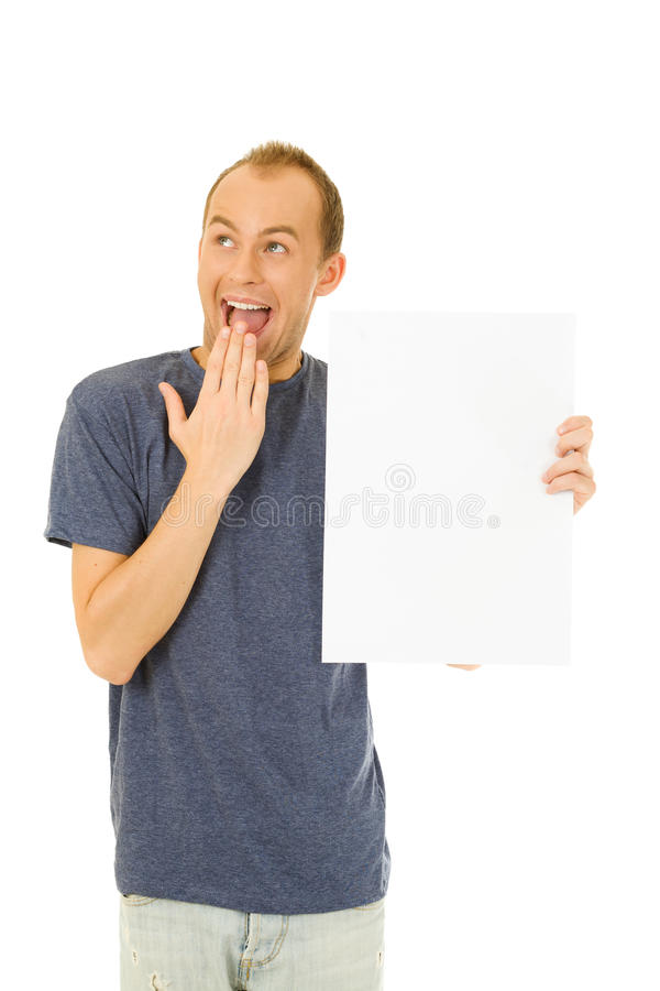 Download Holding a blank board stock photo. Image of card, advertisement - 25515054