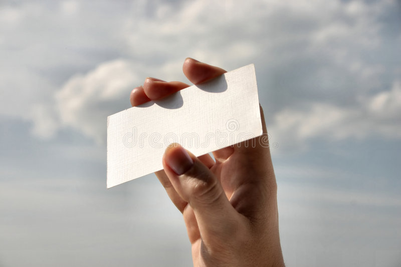 Download Holding Blank Business Card #8 Stock Image - Image: 220043