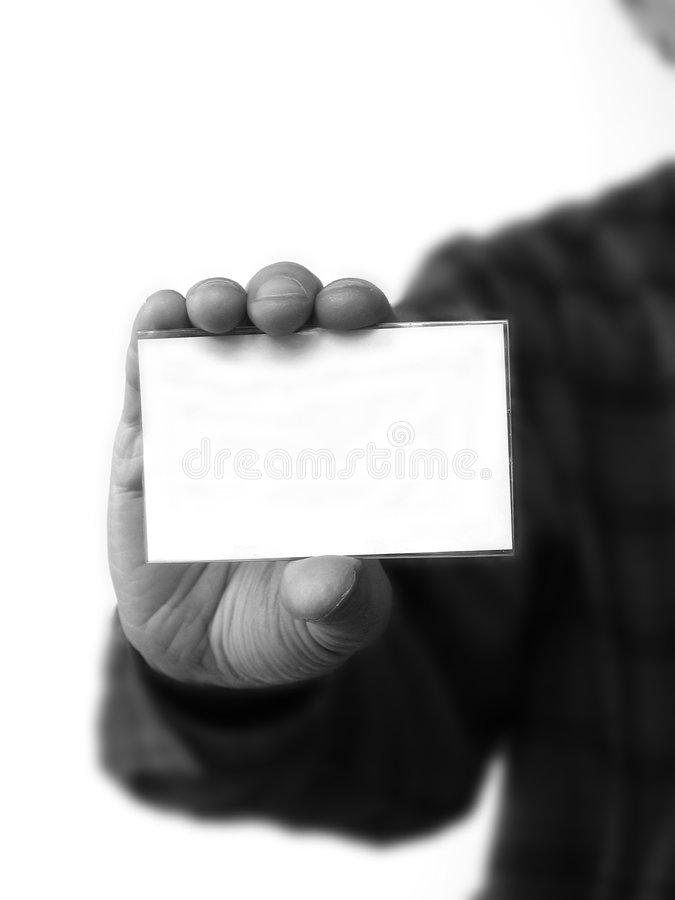 Holding blank tag stock photography