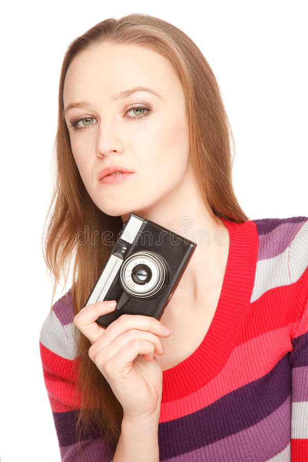 Holding A Camera Royalty Free Stock Photo