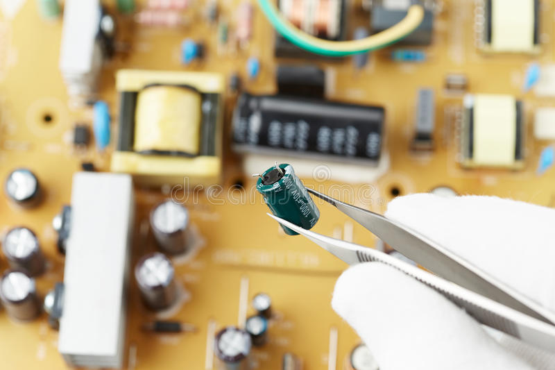 Electronic lab stock photos