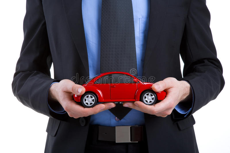 Holding A Car Stock Photo