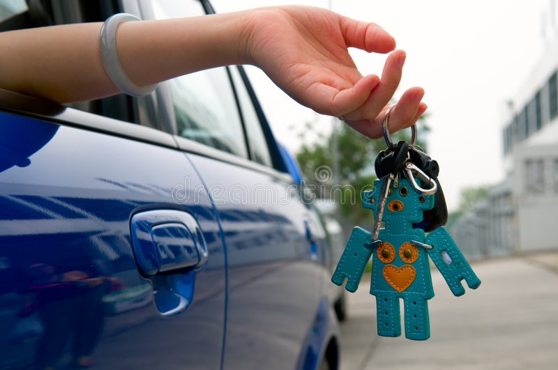 Download Holding car key stock photo. Image of driving, holding - 7089450