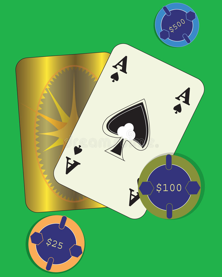 Holding the Cards vector illustration