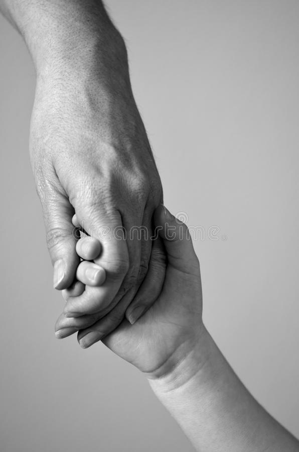Holding Child Hand royalty free stock images