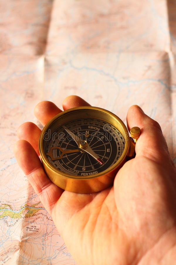 Download Holding compass B stock photo. Image of pole, objects - 23310712
