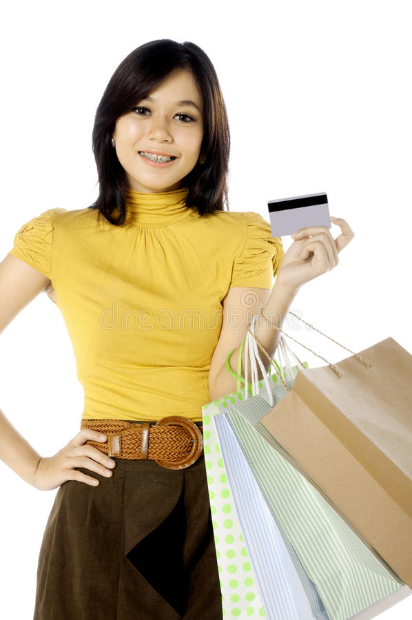 Download Holding Credit Card stock photo. Image of asian, gift - 25174498