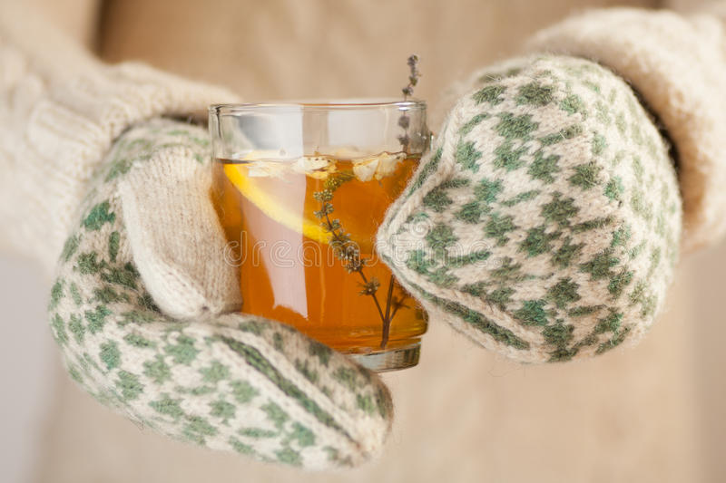Download Holding a cup of tea stock image. Image of lemon, drink - 28833591