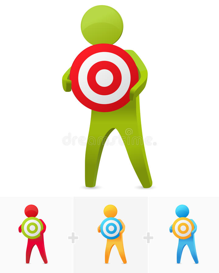 Download Holding dartboard stock illustration. Image of isolated - 16705782