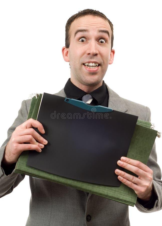 Holding-Dateien stockbilder
