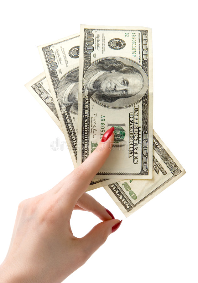 Download Holding dollars stock image. Image of isolated, finances - 2188115