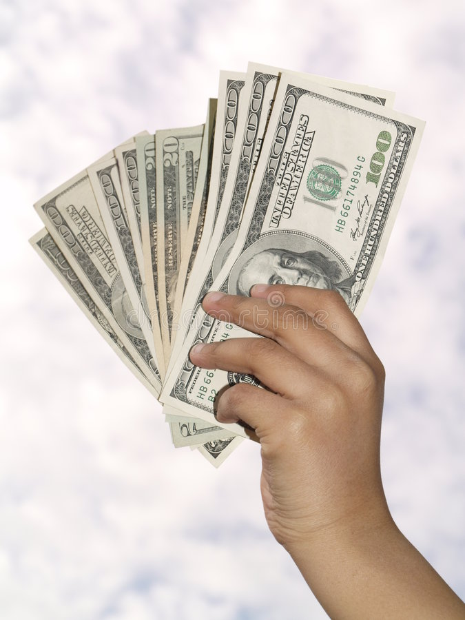 Download Holding Dollars Stock Photos - Image: 8882663