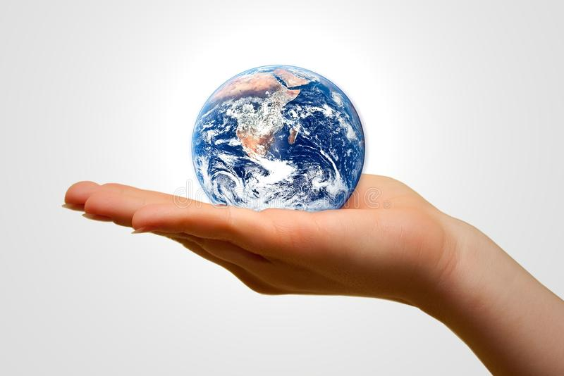Holding the Earth royalty free stock photography