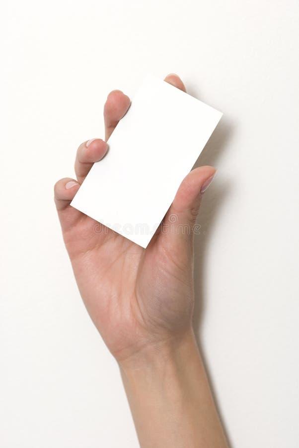 holding för hand för affärskort tom arkivfoton