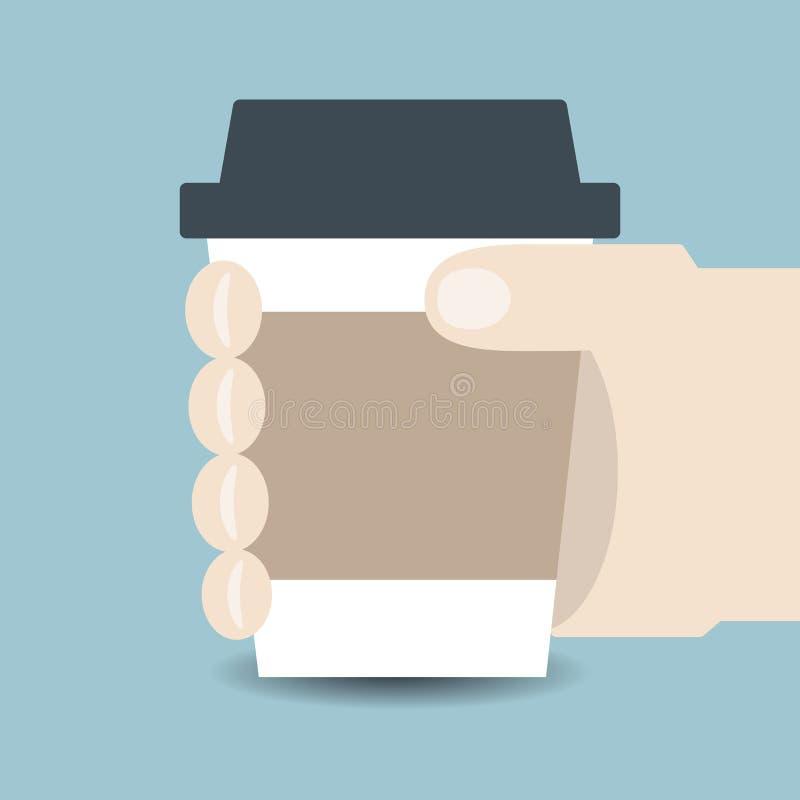 holding för hand för kaffekopp vektor illustrationer