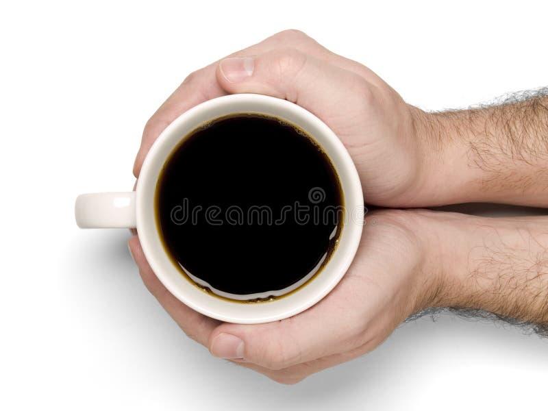holding för kaffekopp royaltyfri foto