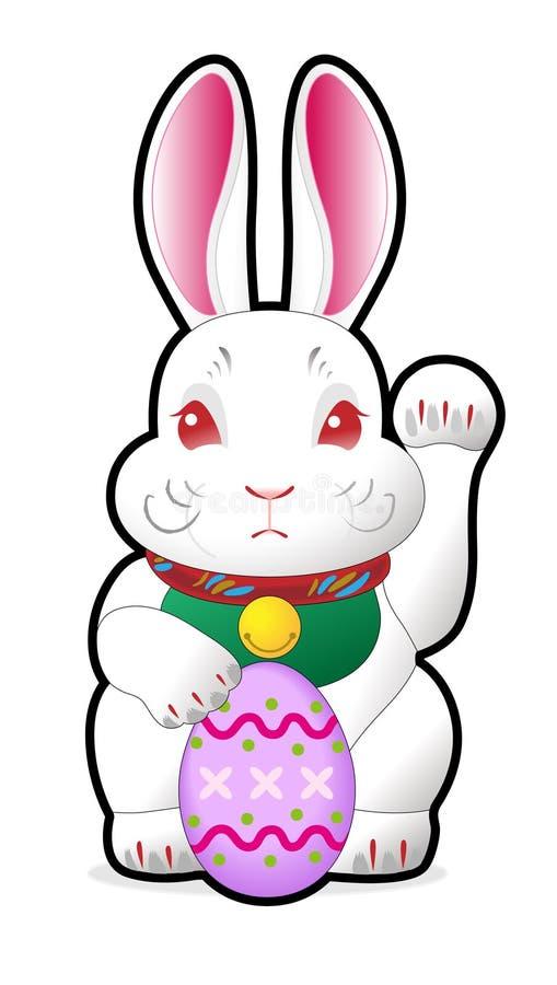 holding för kanineaster ägg arkivfoto