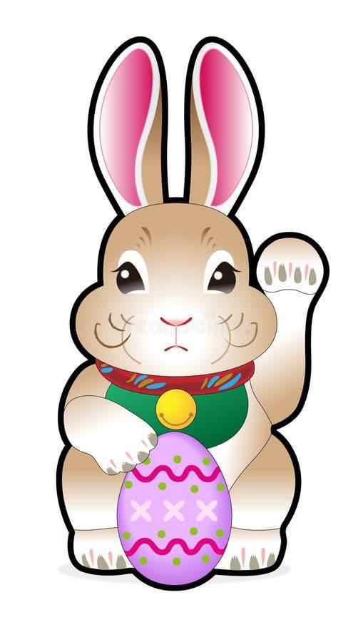 holding för kanineaster ägg arkivfoton