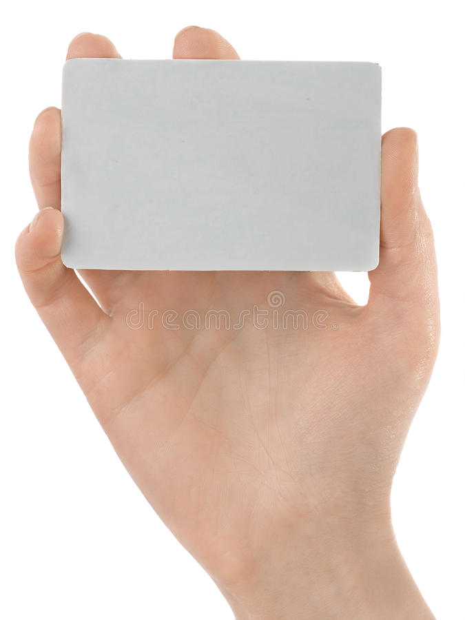 Holding femminile della mano della carta di credito fotografie stock libere da diritti