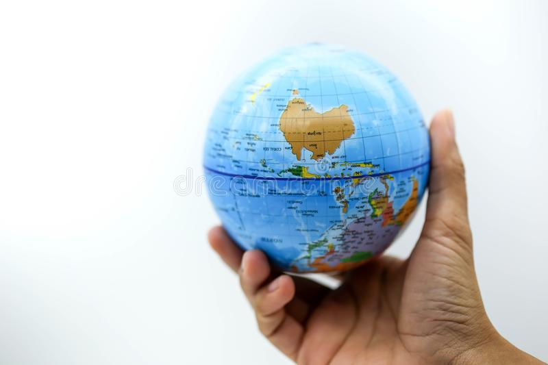 Holding globe world map on hands stock photo image of businessman download holding globe world map on hands stock photo image of businessman communication gumiabroncs Image collections