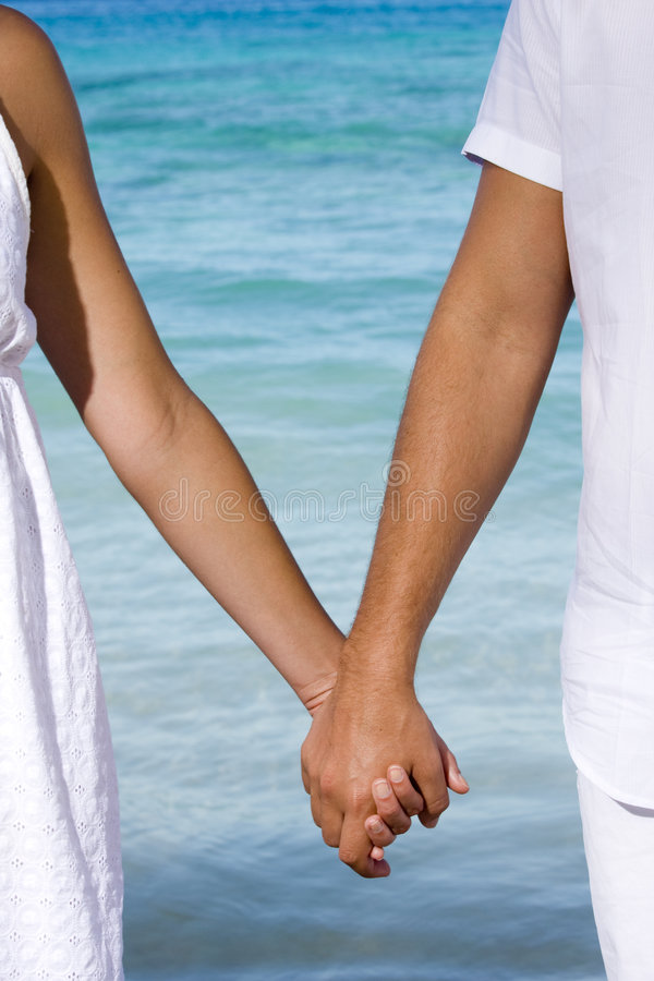Holding hands royalty free stock photo