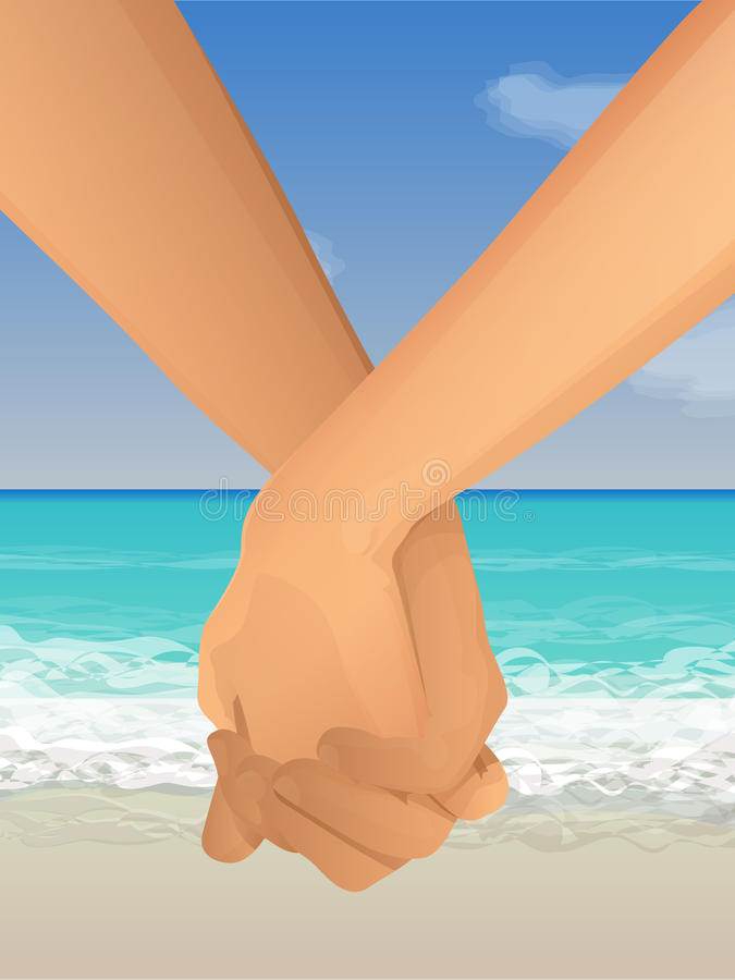 Download Holding hands on the beach stock image. Image of asian - 22786345