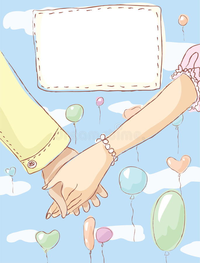 Download Holding Hands. Wedding Invitation Royalty Free Stock Images - Image: 26589509