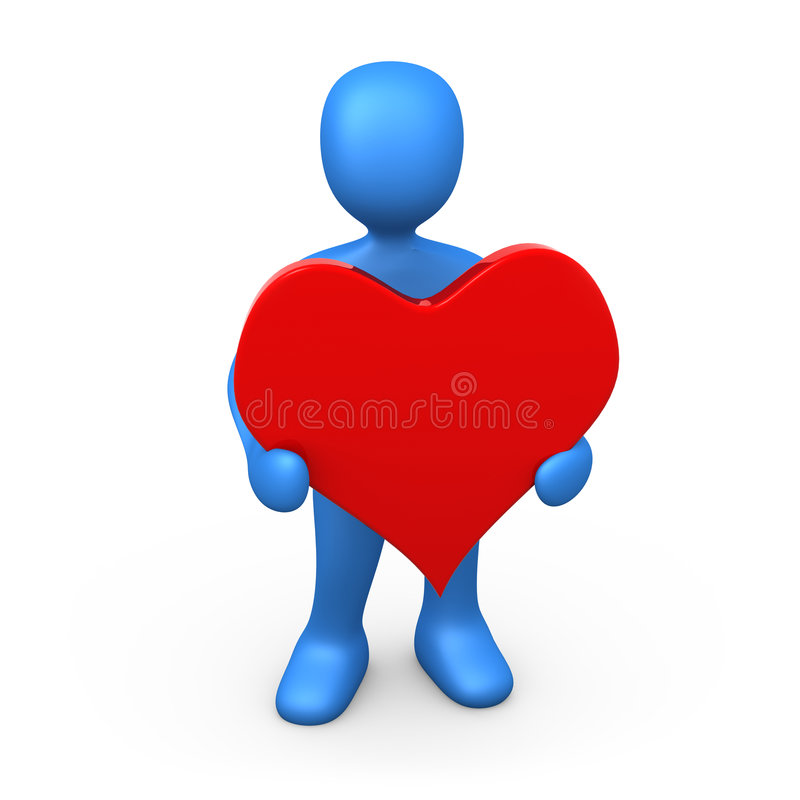 Download Holding  A Heart stock illustration. Image of person, heart - 3981748