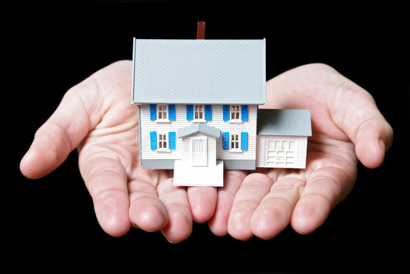Holding A House Stock Photo