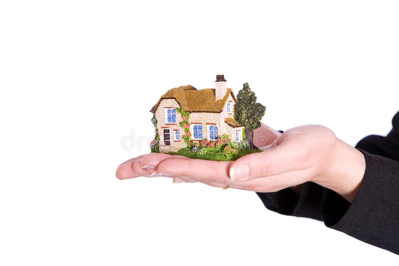 Holding house royalty free stock image