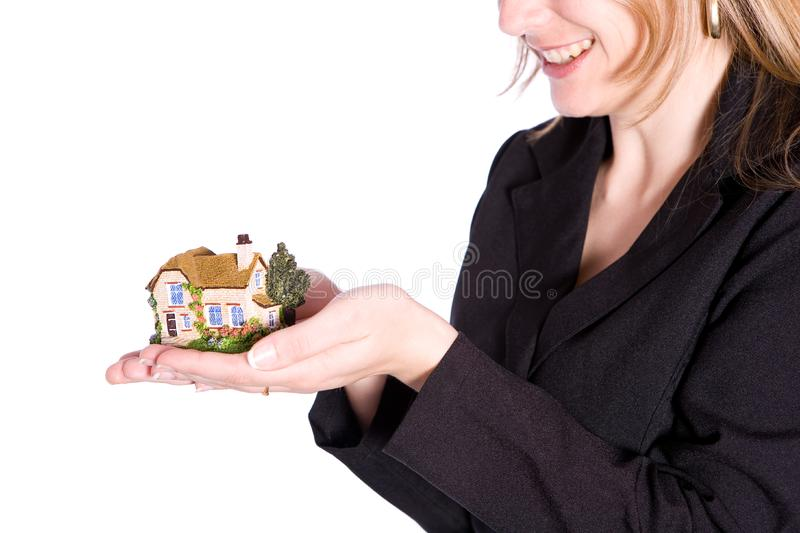Holding house stock photo